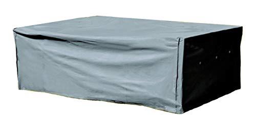 Kronenburg Schutzhülle für Gartenmöbel Winterfest aus 420D Oxford Gewebe – rechteckig 70 x 200 x 160 cm in Grau – Wetterschutzhülle für Sitzgruppen, Sitzgarnituren, Tisch & Stühle