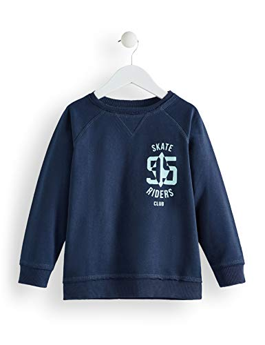 Marca Amazon - RED WAGON Sudadera Estampada Niños, Azul (Navy), 110, Label:5 Years