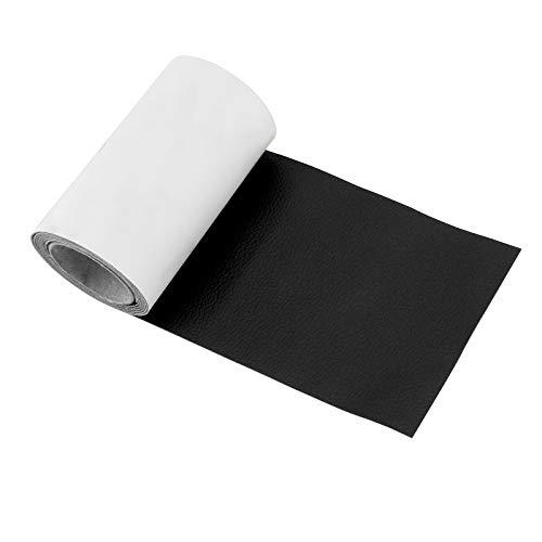 AIEX 10x120cm Lederreparaturband Selbstklebendes Lederreparaturpflaster für Couch, Sofas, Handtaschen, Jacken, Möbel, Autositze (Schwarz)