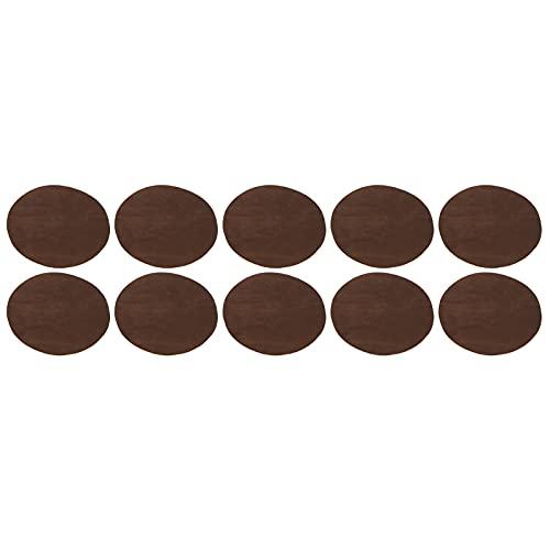 Fydun 5 Pares de Parches de Apliques de Hierro Parches Adhesivos de reparación de Codo Ovalado decoración de Bricolaje Pegatinas de Tela para decoración de Ropa Artesanal(marrón)
