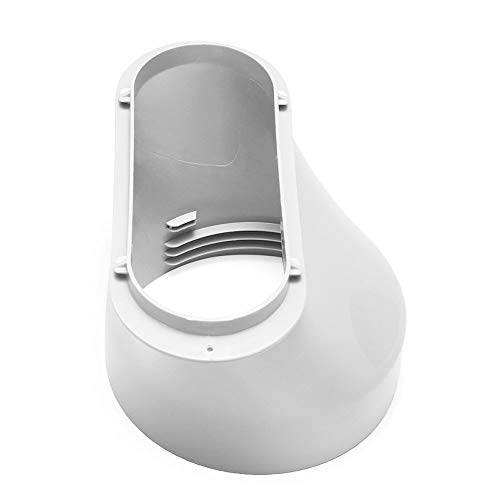 CROSYO ABS Adaptador Duradero Accesorios de Conector de Manguera Portátil Blanco 15 cm Práctico Conducto de Escape Interfaz Aire Acondicionado Parte (Color : 1)