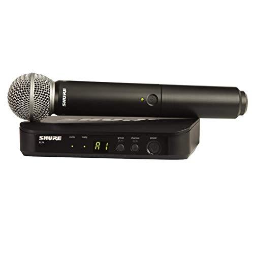 Shure BLX24 / SM58 Sistema microfonico wireless con microfono vocale dinamico portatile SM58, BLX24UK / SM58-K3E