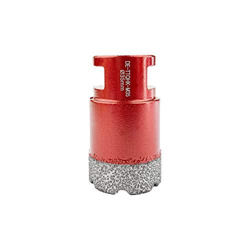 TWIN-TOWN Broca de diamante en seco para azulejos, cerámica, granito, vidrio, porcelana, para el uso en todo tipo de amoladoras angulares eléctricas y con batería (35 mm de diámetro)