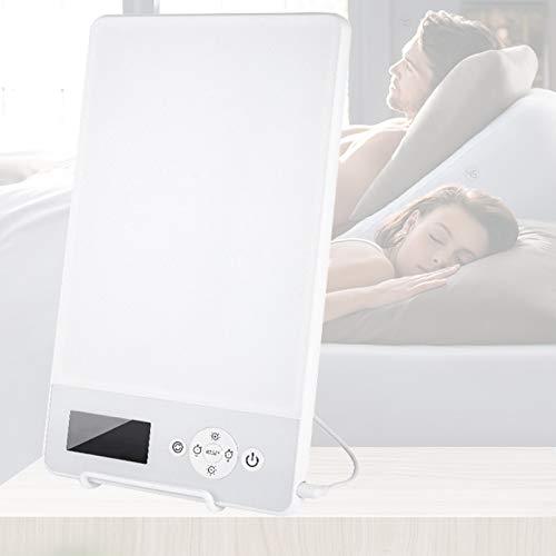 Enwebalay Tageslichtlampe Timing Design, Lichttherapie Leuchte Einstellbare Helligkeit Automatische Abschaltung, LichttherapiegeräT Sanfte Beleuchtung Schlaf Verbessern