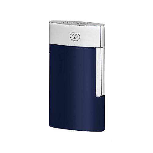 【名入れ無料】【ラッピング無料】デュポンS.T.Dupont ライター E-スリム 電子ガス式 クローム ブルー