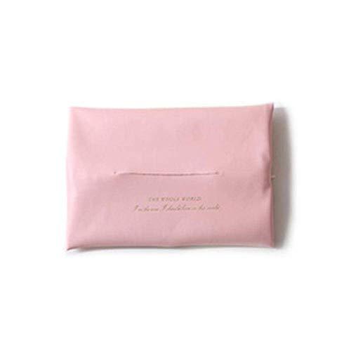 Soportes para Papel higiénico Soportes para Toallas de Papel Caja de pañuelos de Cuero sintético Simple Letra Impresión geométrica Rosa Negro Servilletero Suave Cocina para el hogar Soporte