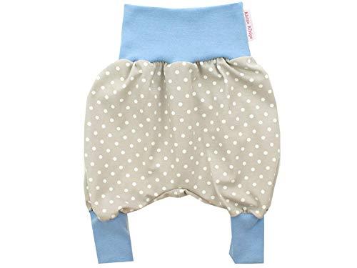Kleine koningen pompbroek baby jongens broek · model punten beige lichtblauw · Ökotex 100 gecertificeerd · maten 62/68