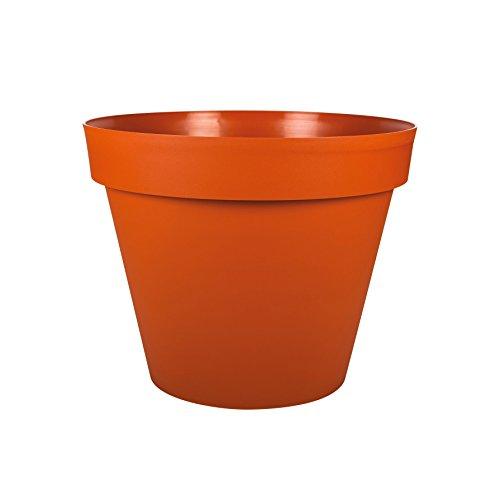 EDA Plastiques - Pot de Fleur - Pot de Fleur Toscane Pop Ø25x20,6cm Rond 6L - Potiron