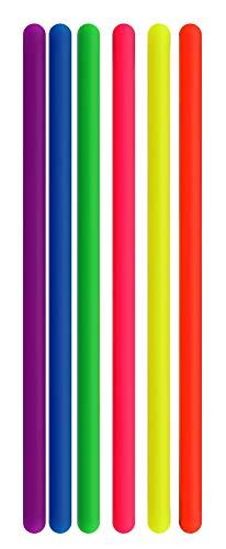 CaLeQi Bunte, dehnbare Saiten, sensorisches Fidget-Spielzeug, Erwachsene und Kinder, reduziert Angst und Stress bei ADHS, ADD, OCD, dehnbar von 25 cm bis 2,4 m, 6 Stück, 6 Farben