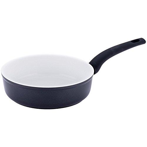 Style'n Cook Extreme5 Bratpfanne massiv, Aluminium geschmiedet, Schwarz/Weiß, 28 cm