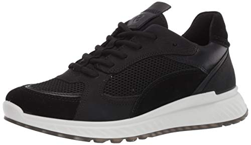 ECCO Dames St.1 Sneakers, zwart, 41 EU