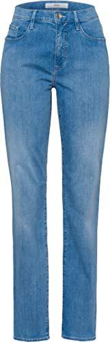 BRAX Damen Style Carola Five-Pocket-Jeans in Leichter qualität Summer Denim Crystal Straight Fit, Used Light Blue, 36