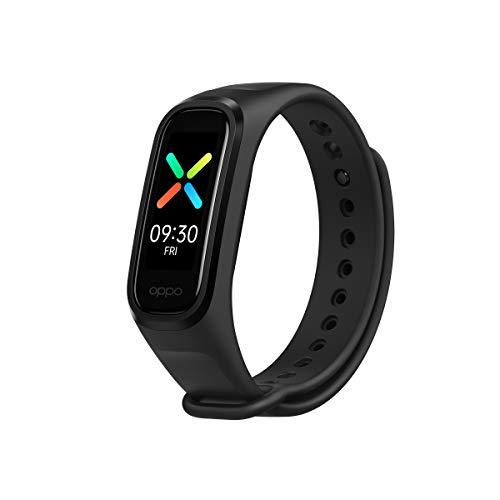 OPPO Band Sport Tracker Smartwatch con Display AMOLED a Colori 1.1   5ATM Carica Magnetica, Impermeabile 50m, Pedometro Fitness Cinturino Cardiofrequenzimetro, Versione Italia, Colore Black