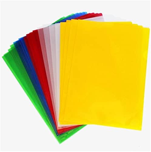 20 PCS A4 trasparente Cartoleria filery File Cartella Impermeabile Tipo Cartella Documento Espansione Portafoglio - Colore casuale (Color : As Shown)