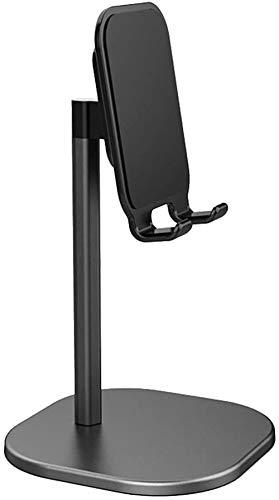 Yinaa Soporte del teléfono Tablet Stand Adjustable Tablet Holder Desktop Stand Dock Compatible Soporte Tablet/Móvil Universal Multiángulo Soporte Ajustable Multi Angle Aluminum Alloy Black