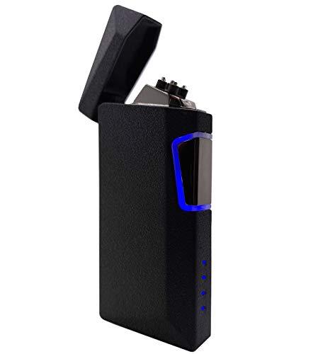 Mechero Eléctrico,Encendedor Electrico USB Recargable Encendedor Indicador de Batería Pantalla Táctil Mechero Electric sin Llama,Silencio,Anti-Fueg/Viento,para Cigarrillos,Velas,al aire libre,cocina