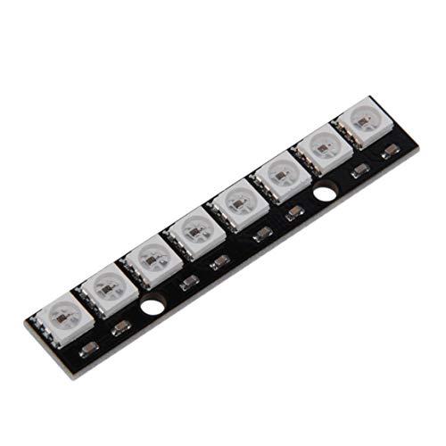 WS2812 WS 2811 5050 Panneau de lampe LED RVB Module 5V 8 bits arc LED Precise 8 Bit 5050 pleine couleur conduit Module