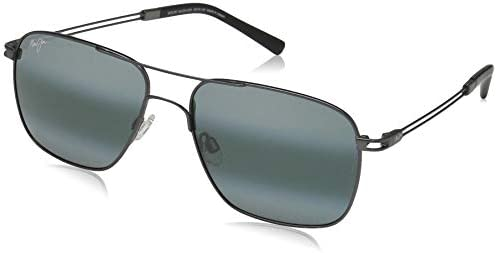 Maui Jim Haleiwa Aviator Sunglasses Gunmetal Neutral Grey Polarized Medium product image