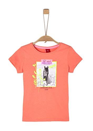s.Oliver Junior Mädchen T-Shirt, 2034 orange, 104/110/REG