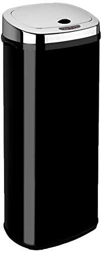 An image of the Dihl 50L Stainless Steel Rectangle Automatic Kitchen Sensor Bin-Black, Metal