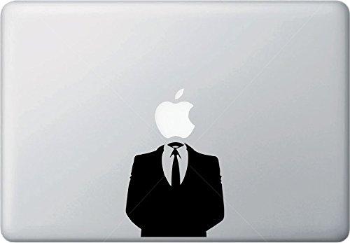 "Yadda-Yadda Design Co. Anonymous Suit - MacBook Vinyl Decal Sticker (13"")(Black)"