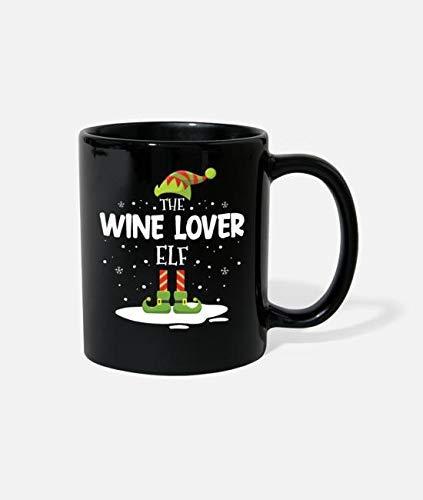 N\A Navidad Familia a Juego Disfraz de Amante del Vino Taza de cerámica Novedad Divertida Taza de café Mejor Idea de Navidad año Nuevo Vacaciones para Familiares Amigos compañeros de TR