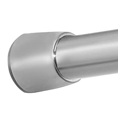 InterDesign Forma Constant Tension Bathroom Shower Curtain Rod - 50-87 , Large, Brushed Stainless Steel