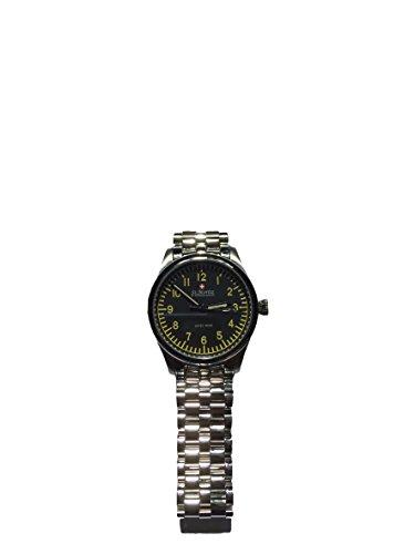 St Moritz GB03610/04 - Orologio analogico da uomo, cinturino in acciaio con datario