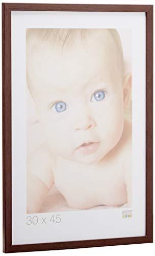 Deknudt Frames S44CH4 - Marco de fotos (madera, marco fino, 30 x 45 cm), color marrón oscuro