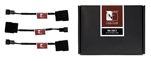 Noctua NA-SAC1, Cable Adaptador de 3 y 4 Pines para Ventiladores de PC (Negro)
