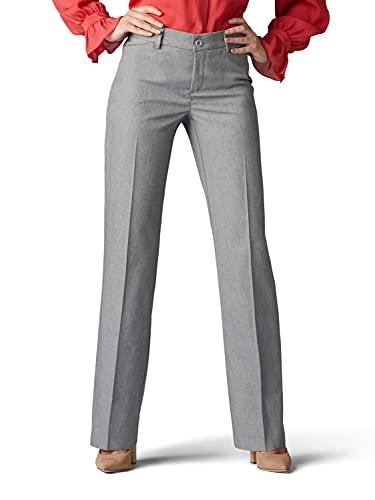 Lee Women s Flex Motion Regular Fit Trouser Pant, ash Heather, 14