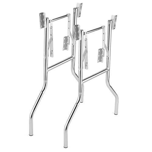 2 Pack - Heavy Duty Wishbone Style Folding Table Legs - 29 Inch Tall, Heavy Duty 1 Inch x 16 Gauge Zinc Coated Steel, Commercial Grade Durability (24 Inch Wide)