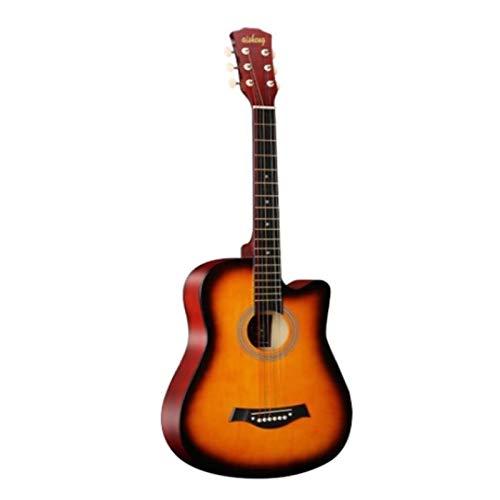 ZDAMN Ukelele 38 '' Tamaño Completo for Adultos 6 Cuerdas Cutaway Guitarra Popular acústica for Estudiantes Principiantes Principiante de Ukelele para Principiantes (Color : Sunset, Size : 96x36cm.)