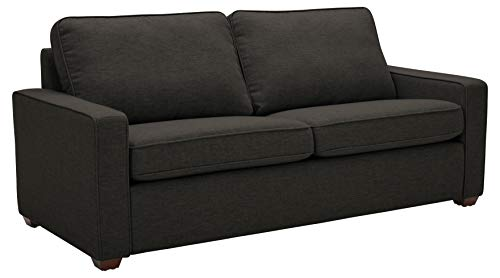 Amazon Brand – Rivet Andrews Contemporary Sofa with Removable Cushions, 82'W, Dark Grey