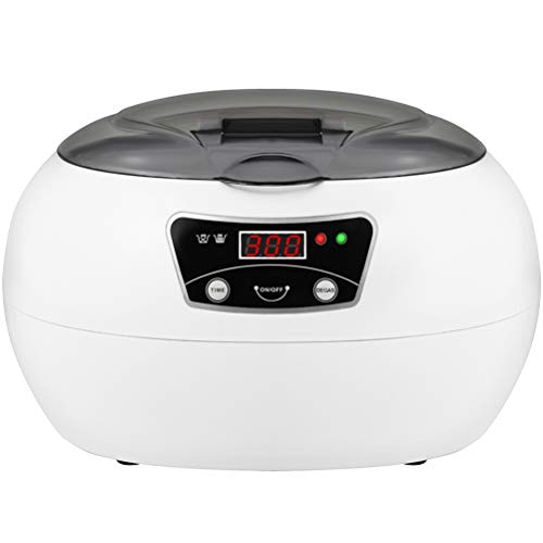 OLenyer Compact Professional Ultrasonic Jewelry Cleaner 600ml Capacity with Digital Time
