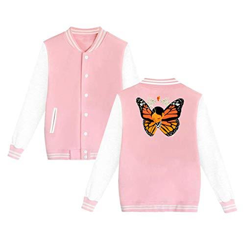 Butterfly Girl Impreso Uniforme de béisbol de Terciopelo para Hombres y Mujeres más XL