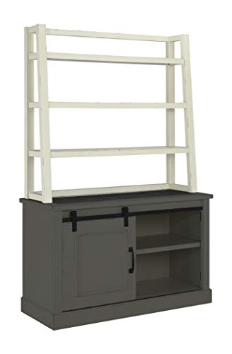 Ashley Furniture Signature Design - Jonileene Home Office Hutch - Hutch Only - Distressed White Finish - Dark Gray Hardware
