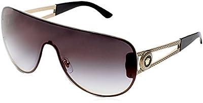 Versace VE2166 - 12528G Gold/Grey Sunglasses