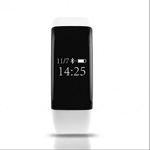 Bracelet Intelligent Tracker d'activité,très confortable à porter,Tracker Sommeil,d'Activité Fitness,Compteur de Calories,Mode multi-sport,Message ou Appel pour Smartphone Android et Apple iOS iPhone bluetooth 4.0