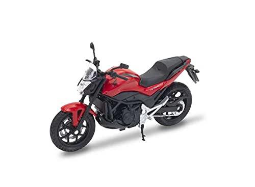 Welly Hon-da NC750S Rot Reise Enduro 1/18 Modell Motorrad Modell Motorrad