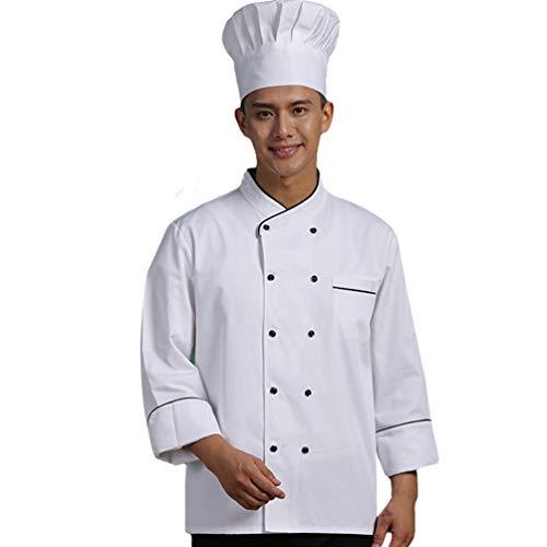 Dooxii Unisex Herren und Damen Herbst Winter Langarm Kochjacke Kuchen Backen Küche Hotel Uniform Berufsbekleidung