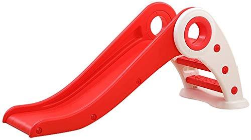 Kinderrutschen für Kinder über 3 Jahre alt, Breitrutsche mit klappbare Leiter für Garden Park Indoor lange Steigung,Red