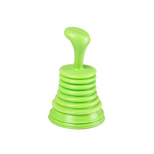 bestomz fregadero émbolo/tuberías de alcantarillado dragado/para inodoro desatascador fregadero de cocina drenaje tubo de drenaje herramienta de limpieza (verde)