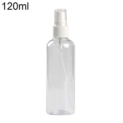 Lsgepavilion Bouteille Vide en Plastique Transparent Portable Voyage Cosmétique Parfum Liquide Atomiseur Conteneur 120ml