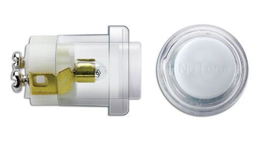NuTone PB18WHCL Wired Unlighted Round Door Chime Push Button, White