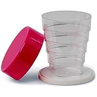 Kimmel - Vaso con tapa (transparente, tamaño único), color rosa