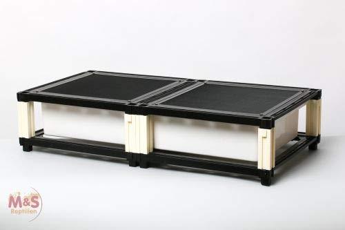 M&S Reptilien M&S Budget Rack Large (1 Etage komplett) 40 x 80 x 16 cm/Wanne 31 x 71 x12 cm