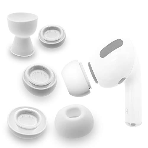 sciuU Silikon Ohrpolster Kompatibel mit Apple Airpods Pro, [3 Paare] Ohrhörertips Ersatz Ohrhörer Earbuds Hülle, Silikon Soft Ohrhörer Pads Ohrpolster Ohrstöpsel Cover, Mittel + Groß + Klein