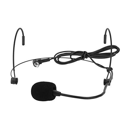 Unidireccional montado en la Cabeza Diadema Auriculares Ear-Hook Micrófono Flexible con Cable Boom for Amp Amplificador de Voz Altavoz Altavoz Portátil Reproductor