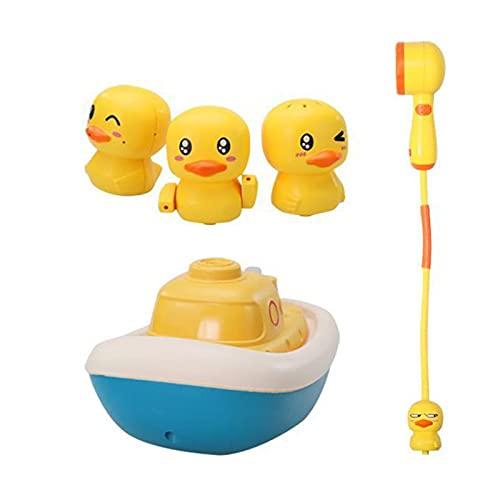 Raspbery 3 Piezas Juguetes Baño Pato Juguetes Bañera Bebe Niños 1 2 3 4 5 años, Animal Juguetes Cuerda para Bañera Piscina Agua para Bebe Niños Niñas Adaptable